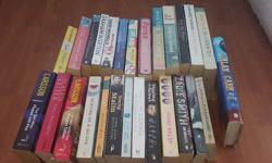 Large selection of books- mainly novels but contains a