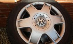 "SET OF 4 VW ALLOYS 16"" 5 STUD IN VERY GOOD"
