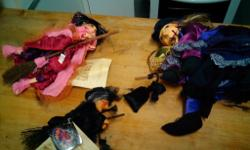 Set of 3 witches of pendle: Including their tags and