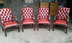 Set of Chesterfield Gainsborough Chairs for Sale In Ox