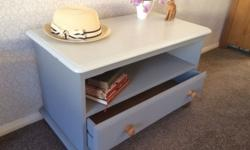 Shabby chic drawer unit - solid wood Hand painted in