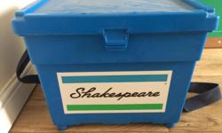 "Shakespeare strapped fishing box -""doubles up as seat"