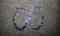 - New Silver Hoop Earrings - High Shine Finish -