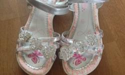 Silver butterfly sandals .. Only worn a few times . In
