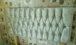 Silver velvet princess style double headboard excellent