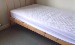 Single bed and mattress as per photos. Pick up from