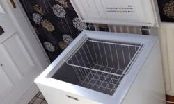 Small chest freezer, in nice condition, with basket,