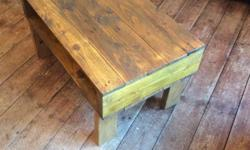 This handmade coffee table has been made from reclaimed