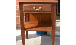 Hi, this is a lovely little unit. Solid Wood. Has been