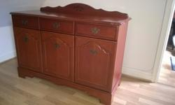 Dark wood sideboard for sale with beautiful carved wood