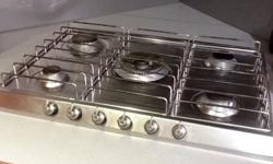 Smeg 5 ring gas hob. Stainless steel and in excellent