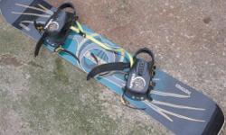 nitro pyro 160cm snowboard with bindings in good