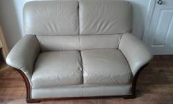 2 seater leather sofa.very slight wear on left