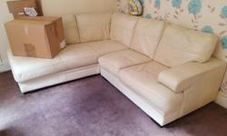 Corner sofa with arm chair and footstool not amazing