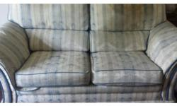 Sofa and 2 chairs in good condition with parts of