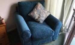 Teal sofa bed and matching chair,must go together,can