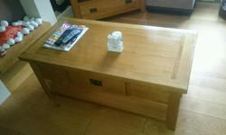 Solid oak coffee table with drawer was £100 when I got