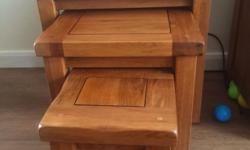 Brand new nesting tables in rustic colour but the