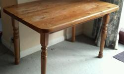 Sturdy solid pine kitchen dining table .. 120cm x 76cm