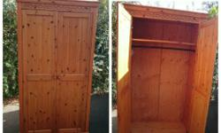 Solid pine 4ft wardrobe. Good quality and design. Nice