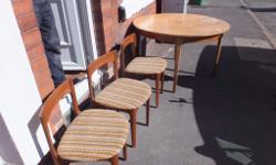 Good condition table and 3 chairs. Cash on collection