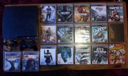 Selling my PS3 with 17 games PS3 slim console (160gb)