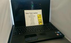 Sony Vaio laptop Specs: Windows 7 Intel core I5