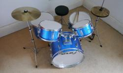Child's 5 piece drum kit suitable for ages 5-10.