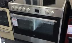 Beko 90cm stainless steel range cooker Electric new