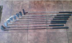 SET OF CLUBS IDEAL FOR BEGINNER. SMALL METAL HEADED