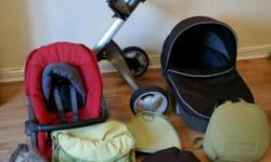 Stokke xplory with carrycot and extras Package