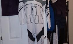 Stormtrooper outfit/onesie with mask Back does up with