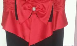 Stunning red and black dress in good condition bargain