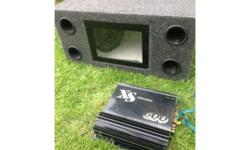 Here we have a sub box and amp for car boot , i was