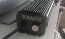 Sunmaster 600w variable ballast with 250w,400w,600w,
