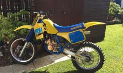 RM125 1988 model evo motocross Rare old bike in great