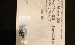I have 2 tickets for the t20 match on the 7th sep in