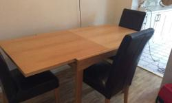 Extending table in great condition .when table is open