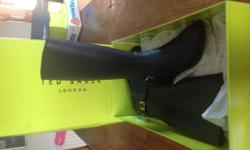Brand New With Box Ladies Black Wellington Boots size