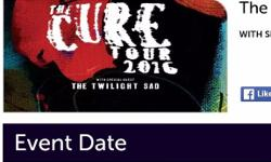 The cure sold out tour Wembley arena 1st December 2016