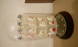 28 Royal Stratford flower thimbles,excellent condition