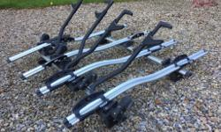 Quad Thule bike carrier complete. Four 591 carriers
