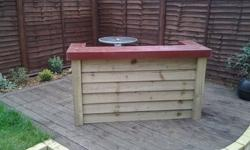 Tanalised timber bar, ideal for party's and barbecues,