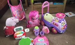 Girls toy bundle. For ages 12months plus. Includes ride