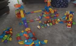 Huge collection of toot toot sets including Parking