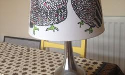 Touch Lamp with ikea shade. In good condition and a