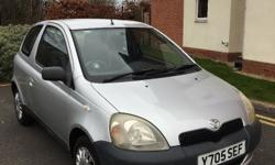 Toyota Yaris for sale - a small engine car that has