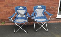 Trespass folding camping chairs x 2 in very good