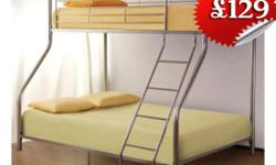 This sturdy metal trio sleeper is double at bottom and