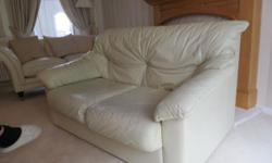Two lovely leather two seater sofas for sale. Made in